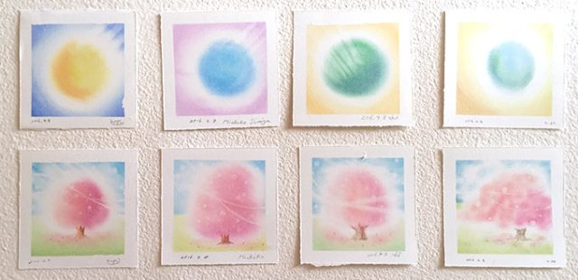 パステルシャインアート「桜」