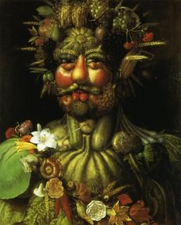 アルチンボルド『ウェルトゥムヌスに扮したルドルフ二世(rdolfo)』