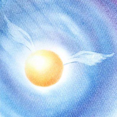丸い天使の羽