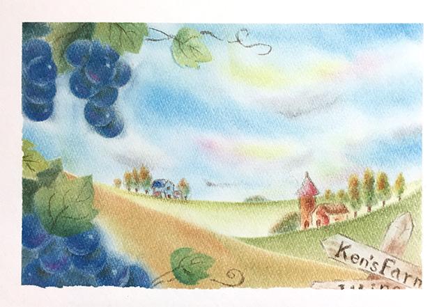 パステルアート「Ken's farm」