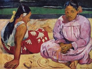 ゴーギャン『タヒチの女 浜辺にて(tahitian_women_on_the_beach)』
