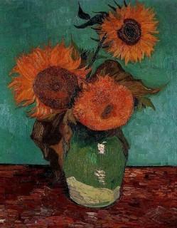 ゴッホ『3本のひまわり(vase_with_3_sunflowers)』