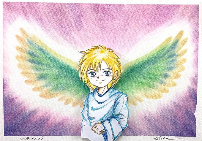 パステルアート天使の羽