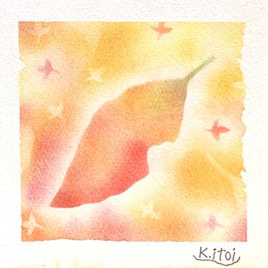 パステルシャインアート「秋色の葉」
