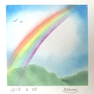 かずみさんパステルアート「虹」