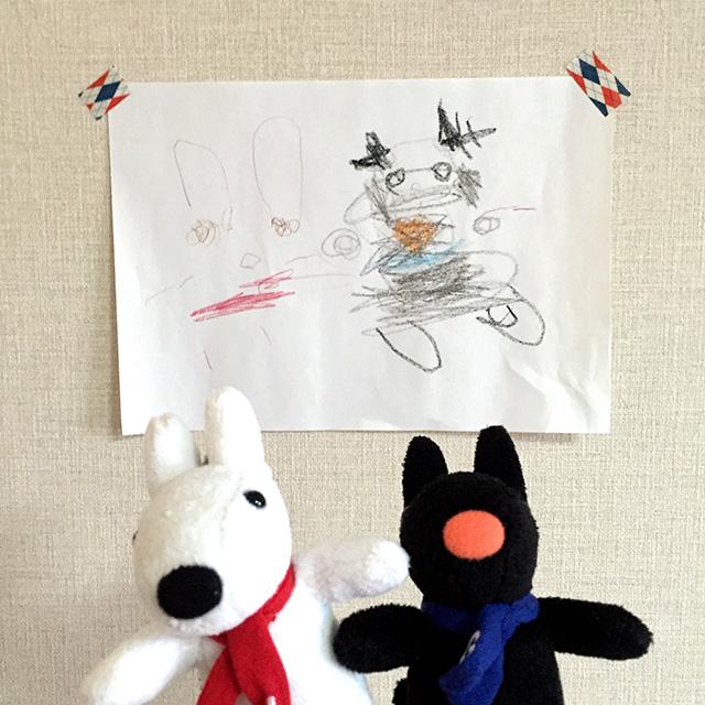 子どもの絵「リサとガスパール」