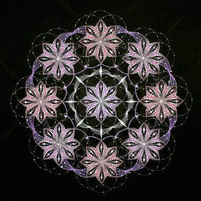 30cmの点描曼荼羅