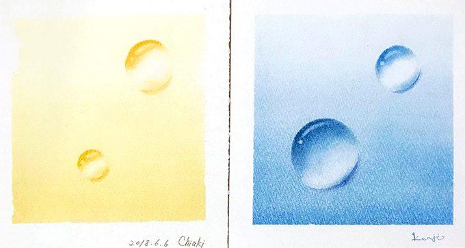 パステルアート「水滴」