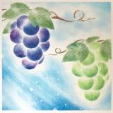 パステルアート「葡萄とシャインマスカット」