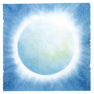 パステルアート「光る地球」