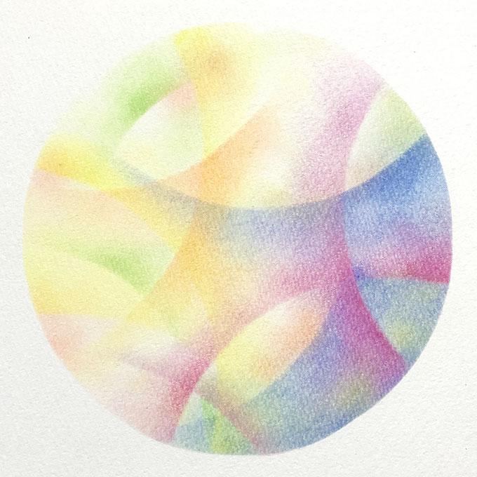 パステルアート「円/光と影の表現」