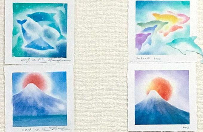 パステルアート「富士山」