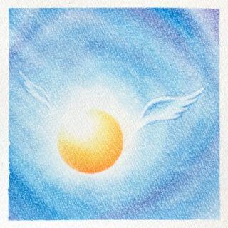 パステルアート まるい天使の羽