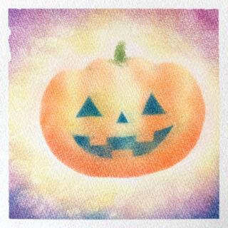 パステルアート ハロウィンかぼちゃ