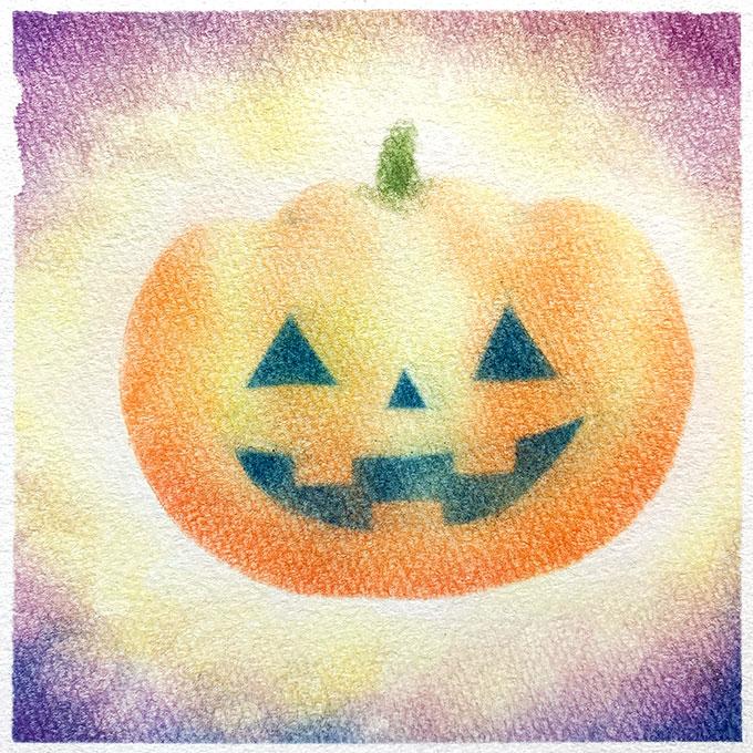 パステルアート「かぼちゃ」