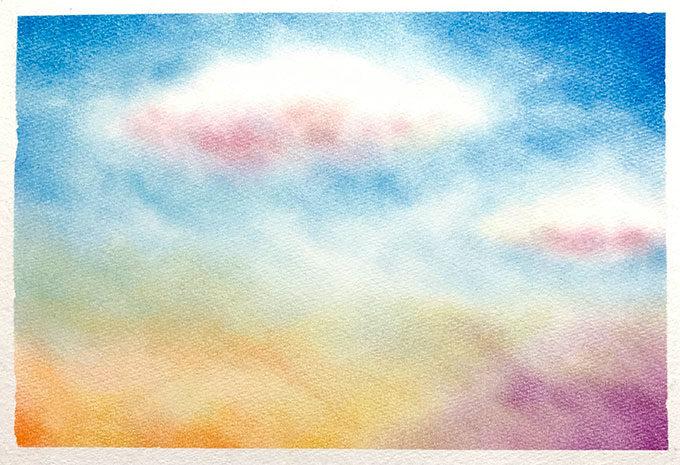 パステルアート「空と雲」