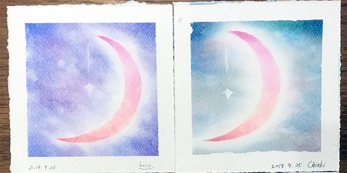 パステルシャインアート「月」