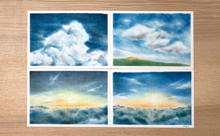 パステルアートでリアル系の空