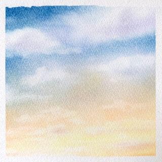 パステルアート 夕焼け雲