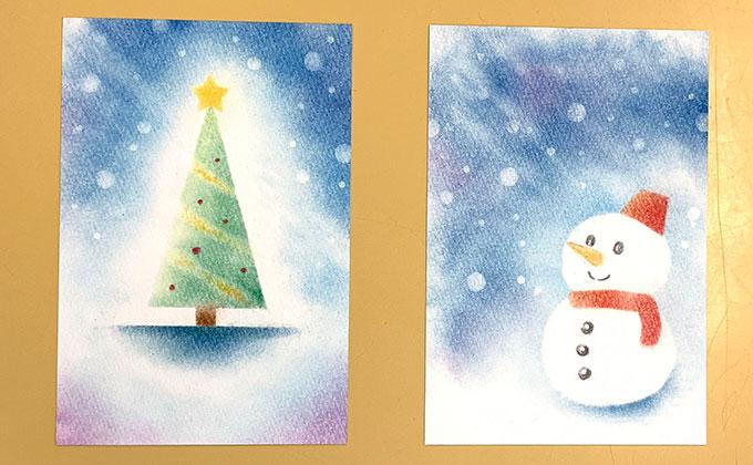 パステルアートでクリスマス