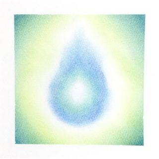 パステルアート「青い炎」
