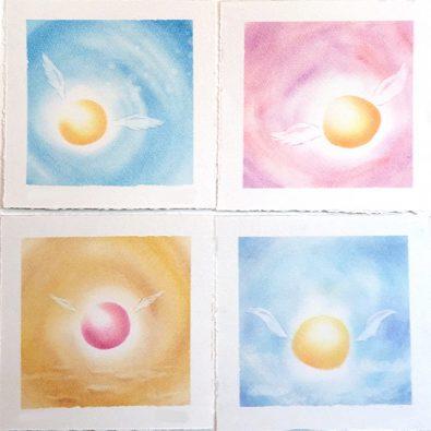 パステルシャインアート「丸い天使の羽」