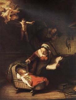 レンブラント『天使のいる聖家族』