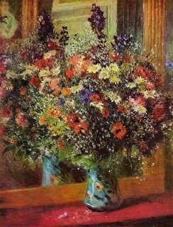 ルノワール『鏡の前の花束』
