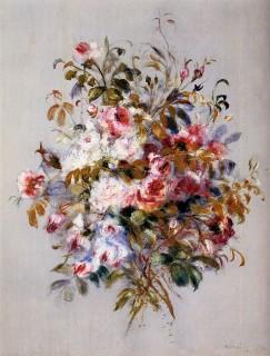 ルノワール『バラの花束』