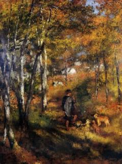 ルノワール『Jules le Couer in Fontainebleau Forest』