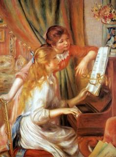ルノワール『ピアノに寄る少女たち』