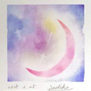 さちこさんパステルアート「月」