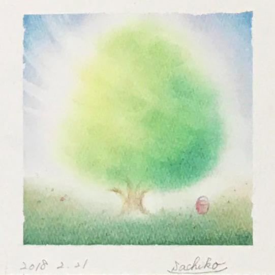 さちこさんパステルアート「木」