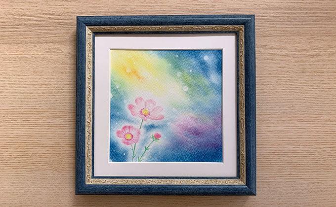パステルシャインアート『宙と花』