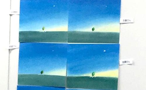 葉祥明『羊と草原』