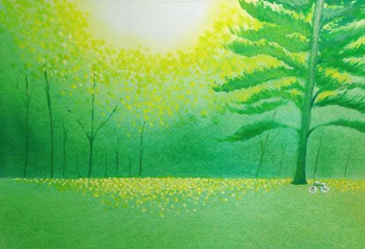 葉祥明『ひとり林に』